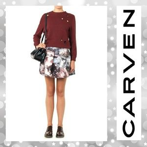 *SOLD* Carven Seacape Skirt in Gray